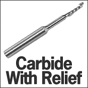 Carbide With Relief