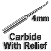 Carbide With Relief 4mm