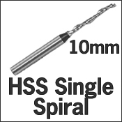 HSS Single Spiral 10mm