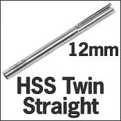 HSS Twin Straight 12mm