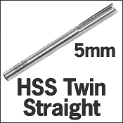 HSS Twin Straight 5mm