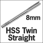 HSS Twin Straight 8mm